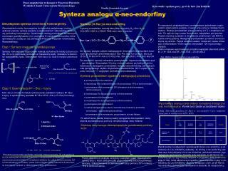Synteza analogu  α -neo-endorfiny