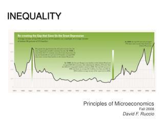 Principles of Microeconomics Fall 2008 David F. Ruccio