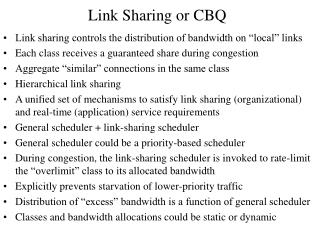 Link Sharing or CBQ