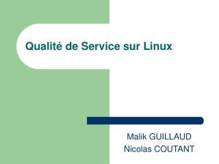 Qualité de Service sur Linux