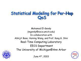 Statistical Modeling for Per-Hop QoS