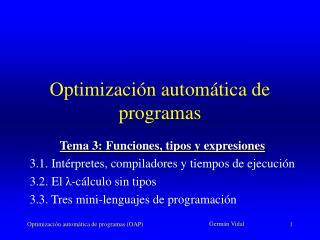 Optimización automática de programas