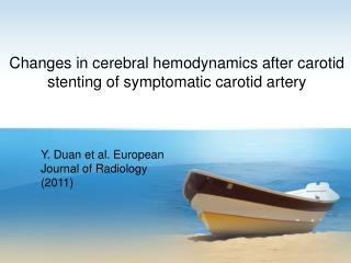 Y. Duan et al. European Journal of  R adiology (2011)