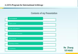 A JAVA Program for International Arbitrage