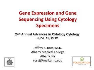 Gene Expression and Gene Sequencing Using Cytology Specimens