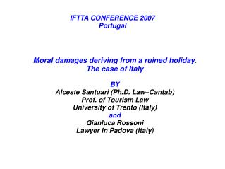IFTTA CONFERENCE 2007 Portugal
