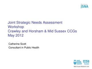Joint Strategic Needs Assessment Workshop  Crawley and Horsham & Mid Sussex CCGs May 2012