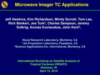 Microwave Imager TC Applications