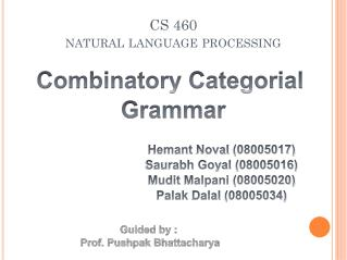 CS 460 natural language processing