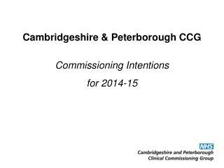 Cambridgeshire & Peterborough CCG
