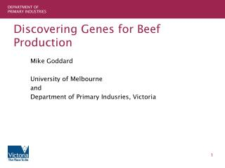 Discovering Genes for Beef Production