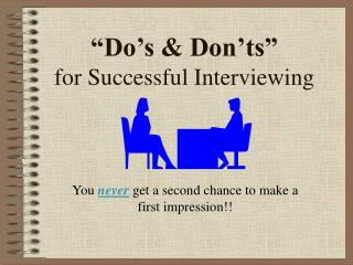 """Do's & Don'ts"" for Successful Interviewing"