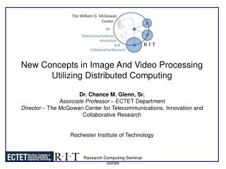New Concepts in Image And Video Processing Utilizing Distributed Computing