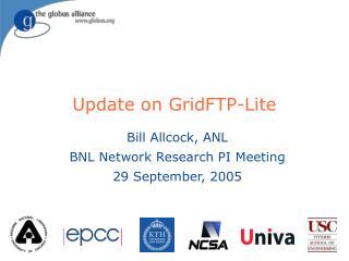 Update on GridFTP-Lite