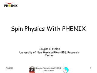 Spin Physics With PHENIX