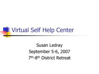 Virtual Self Help Center
