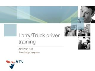 Lorry/Truck driver training