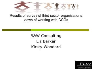 Results of survey of third sector organisations views of working with CCGs