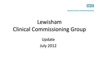 Lewisham  Clinical Commissioning Group