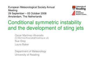 Conditional symmetric instability and the development of sting jets