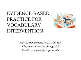 EVIDENCE-BASED PRACTICE FOR VOCABULARY INTERVENTION