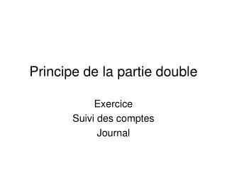 Principe de la partie double