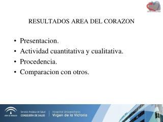 RESULTADOS AREA DEL CORAZON