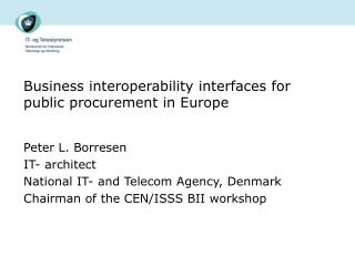 Business interoperability interfaces for public procurement in Europe