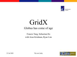 GridX Globus has come of age