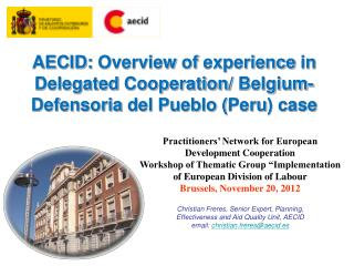 Practitioners' Network for European Development Cooperation