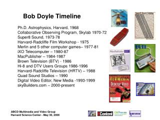 Bob Doyle Timeline