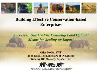 Building Effective Conservation-based Enterprises