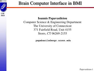 Brain Computer Interface in BMI