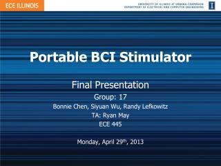Portable BCI Stimulator