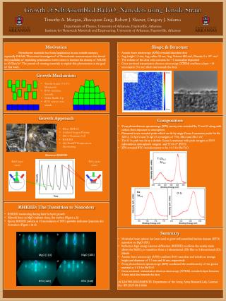 Shape & Structure Atomic force microscopy (AFM) revealed  disorderd  dots