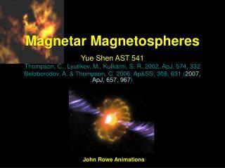 Magnetar Magnetospheres