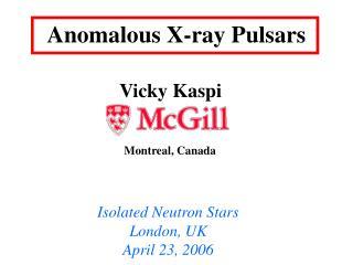 Anomalous X-ray Pulsars