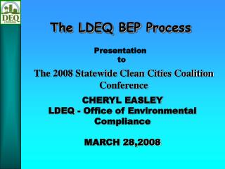 The LDEQ BEP Process