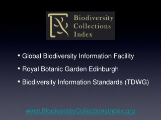 Global Biodiversity Information Facility  Royal Botanic Garden Edinburgh