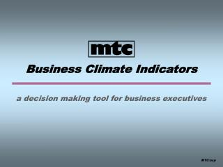 Business Climate Indicators