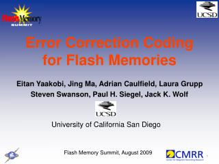 Error Correction Coding for Flash Memories