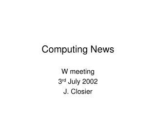 Computing News