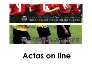 Actas on line