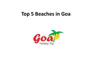 Top 5 beaches in Goa