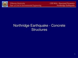 Northridge Earthquake - Concrete Structures