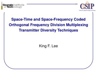 Space-Time and Space-Frequency Coded Orthogonal Frequency Division Multiplexing Transmitter Diversity Techniques