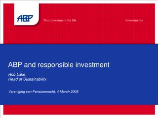 ABP and responsible investment