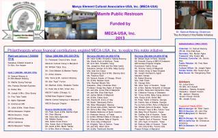 Platinum (above 1,500000 CFA) Sessekou Edward Assam & Dr./Mrs. Ann Assam
