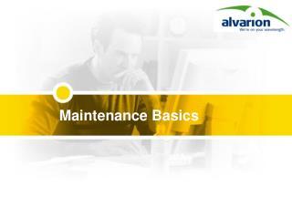 Maintenance Basics
