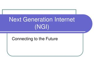 Next Generation Internet (NGI)